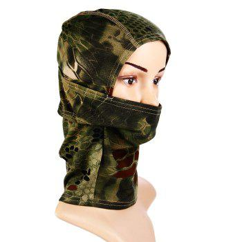 Multi-purpose Wrapped Head Cap Mask with Irregular Grid Pattern for Outdoor Camping and Cycling -  ARMY GREEN