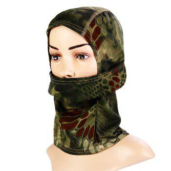Multi-purpose Wrapped Head Cap Mask with Irregular Grid Pattern for Outdoor Camping and Cycling - ARMY GREEN ARMY GREEN