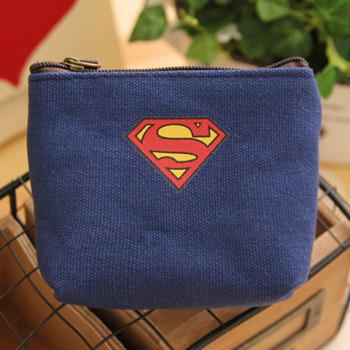 Trendy Super Hero and Canvas Design Coin Purse For Men