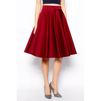 Fashionable Solid Color Pocket Skirt For Women