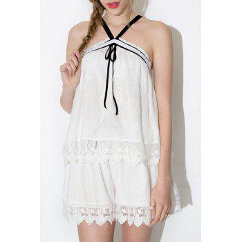 Fashionable Pure Color Lace Shorts For Women