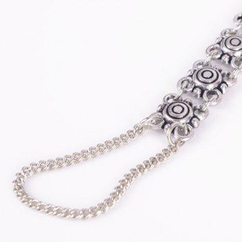 Vintage Floral Hollow Out Indian Anklet - SILVER