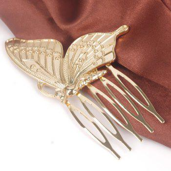 Stylish Solid Color Butterfly Hair Comb For Women - GOLDEN