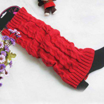 Pair of Chic Hemp Flower Pure Color Women's Knitted Leg Warmers - COLOR ASSORTED