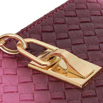 Stylish Metallic and Weaving Design Shoulder Bag For Women - PURPLE
