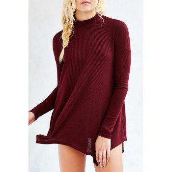 Long Sleeves Solid Color Loose Fitting T Shirt