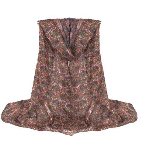 Chic Fulled Ethnic Tiny Floral Pattern Women's Voile Scarf - AS THE PICTURE