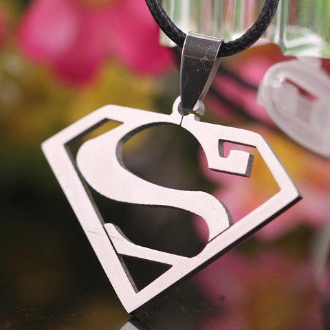 2018 Trendy Superman Symbol Letter S Pendant Necklace Silver In