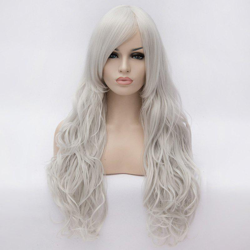 Fashion Centre Parting 80cm Fluffy Long Wavy Heat Resistant Fiber Universal Capless Womens Wig
