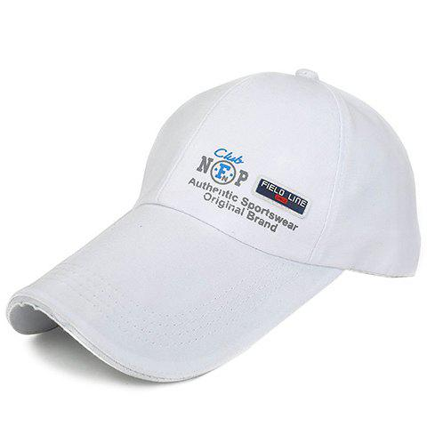 Stylish Labelling and Letter Shape Embellished Solid Color Men's Baseball Cap - COLOR ASSORTED