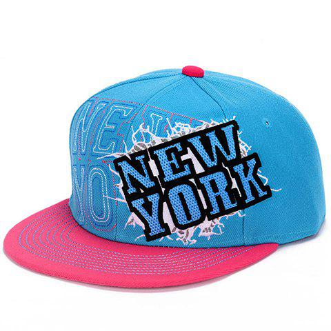 Fashion Name Letter Embroidery and Sewing Thread Embellished Women's Baseball Cap - COLOR ASSORTED