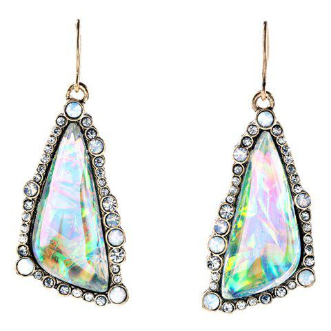 Pair of Vintage Rhinestone Triangle Earrings For Women - COLORMIX