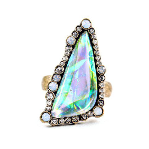 Vintage Rhinestone Triangle Women's Ring