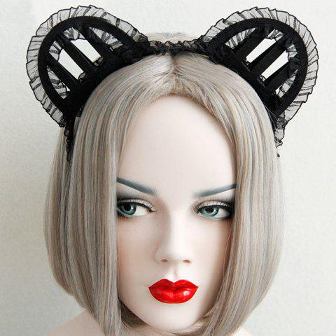 Cute Solid Color Hollow Out Cat Ear Shape Hairband For Women