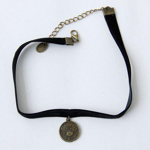 Vintage Gothic Round Shape Pendant Necklace For Women