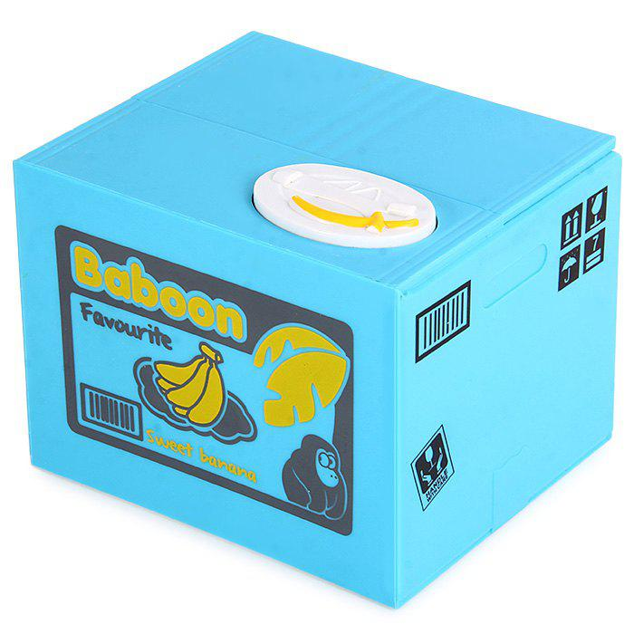 Innovative Stealing Coin Monkey Piggy Bank / Money Pot Birthday Gift for Coins Collection - BLUE