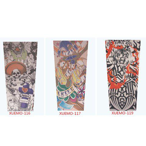 One Pieces Stylish Various Tattoo Pattern Design Outdoor Men's Oversleeve -  RANDOM COLOR PATTERN