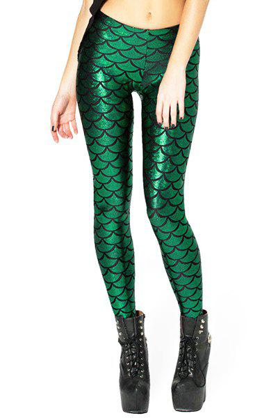 Image For Trendy Style Fish Scale High-Waisted Slimming Women's Leggings