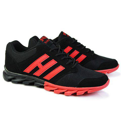 trendy colour block and splicing design athletic shoes for
