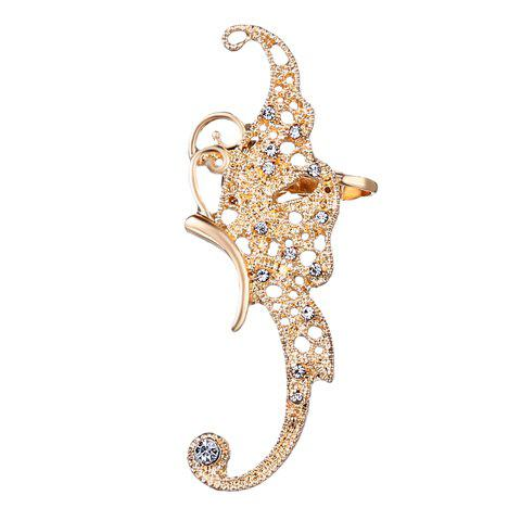 ONE PIECE Butterfly Rhinestone Ear Cuff - GOLDEN