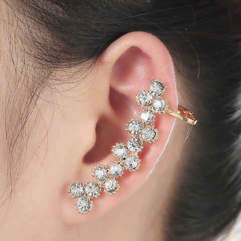 ONE PIECE Chic Rhinestoned Flower Ear Cuff For Women