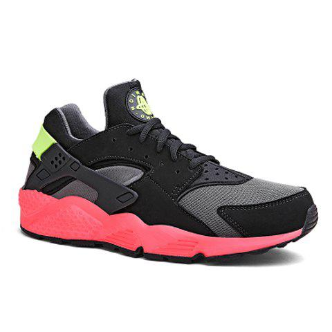Fashionable Mesh and Color Block Design Athletic Shoes For Men - RED/BLACK 39