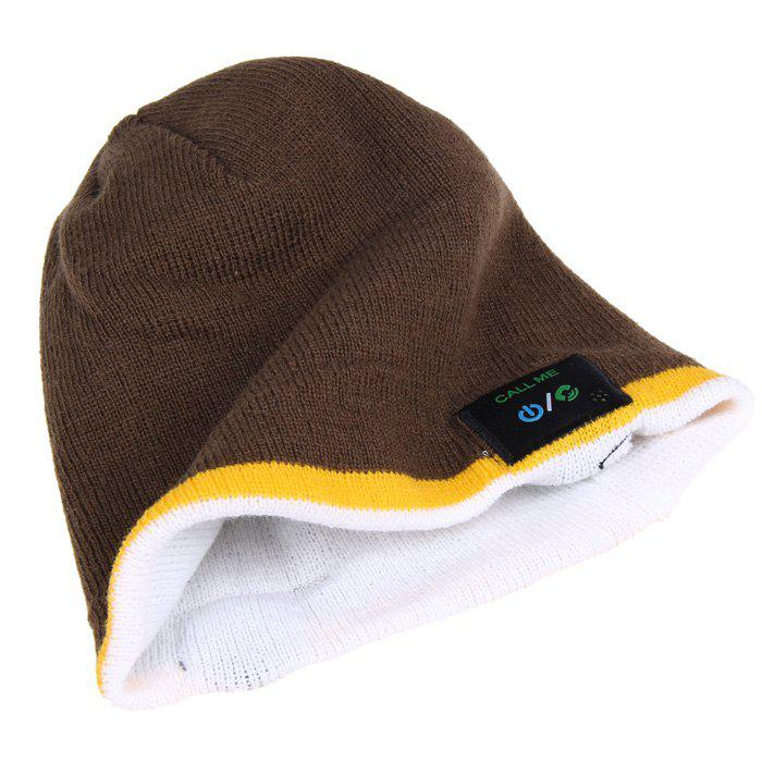 MZ012 Outdoor Breathable Music Bluetooth Knitted Hat with V3.0 + EDR Bluetooth for Hiking / Cycling - BROWN