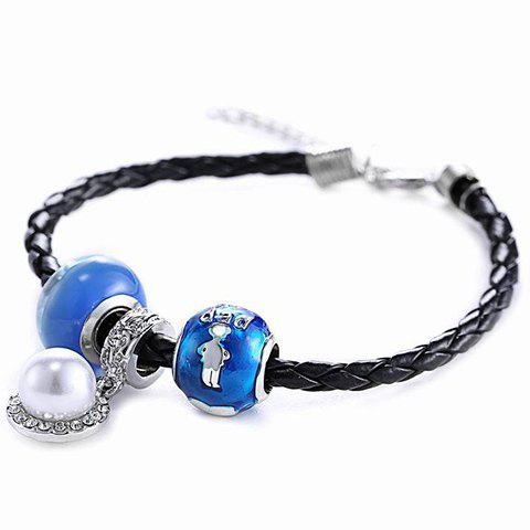 Stylish Bead Noctilucent Bracelet For Women - BLACK