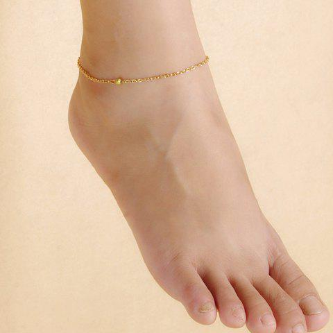 Stylish Delicate Solid Color Anklet For Women - GOLDEN