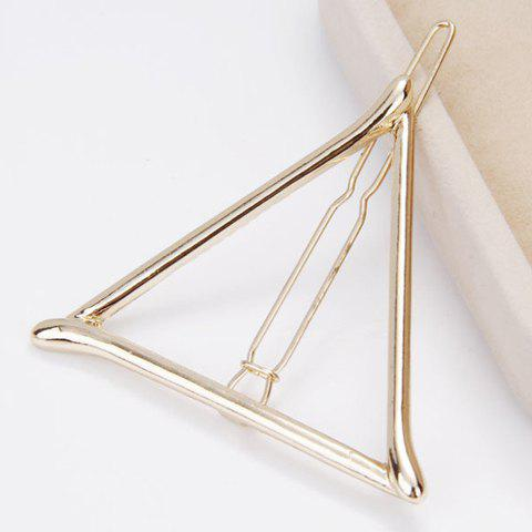 Delicate Hollow Out Triangle Hairgrip For Women - GOLDEN
