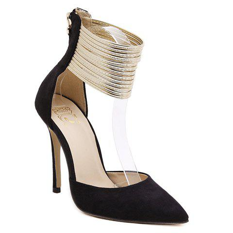 Sexy Pointed Toe and Ankle Wrap Design Women's Pumps