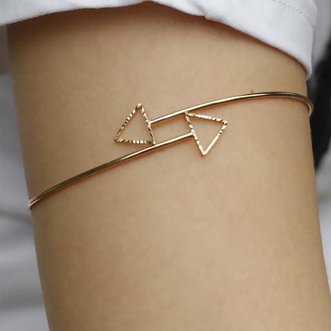 Delicate Solid Color Hollow Out Triangle Body Chain For Women