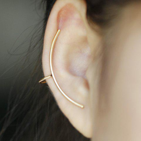 ONE PIECE Simple Solid Color Arc-Shaped Ear Cuff For Women - GOLDEN