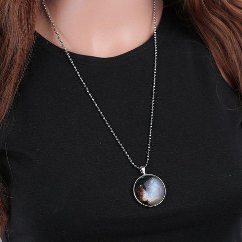 Attractive Round Noctilucent Necklace For Women - SILVER