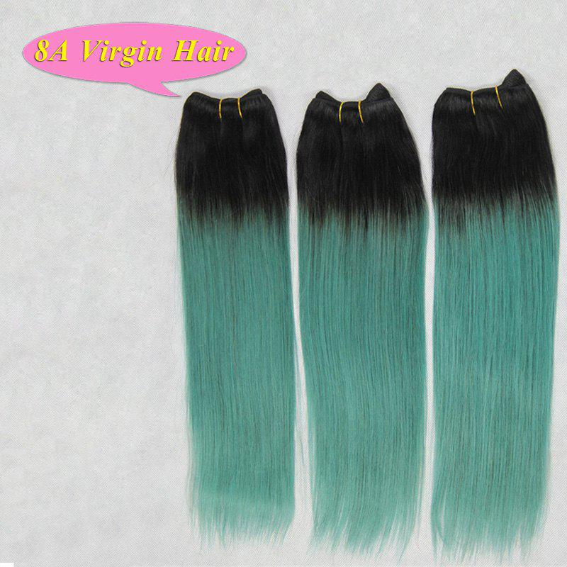 2018 Prevailing Straight Grade 8a Black Gradient Green 3 Pcslot