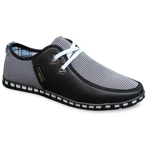 Stylish Color Block and Triangle Design Casual Shoes For Men - BLACK 40