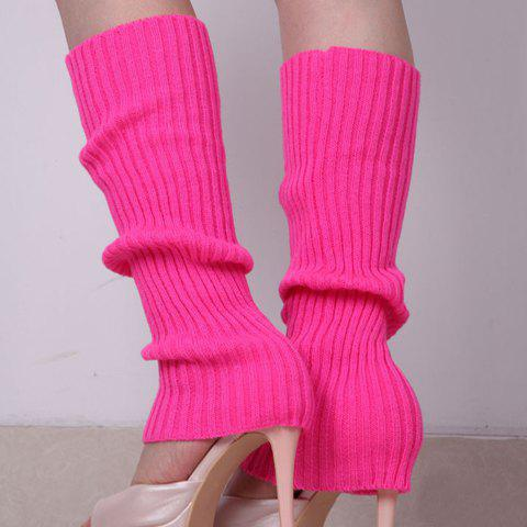 Pair of Chic Candy Color Women's Knitted Leg Warmers