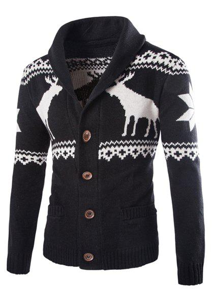 все цены на Fawn Snowflake Christmas Jacquard Button Up Cardigan