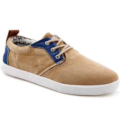 Retro Color Block and Splicing Design Canvas Shoes For Men