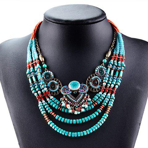 Beads Multilayered Round Necklace - COLORFUL