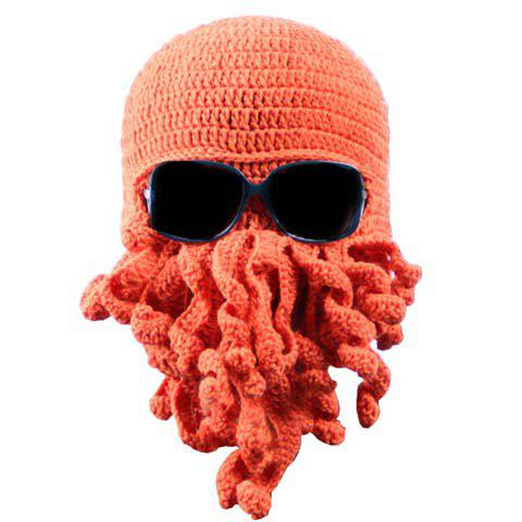 Stylish Solid Color Octopus Shape Men's Knitted Hat - COLOR ASSORTED