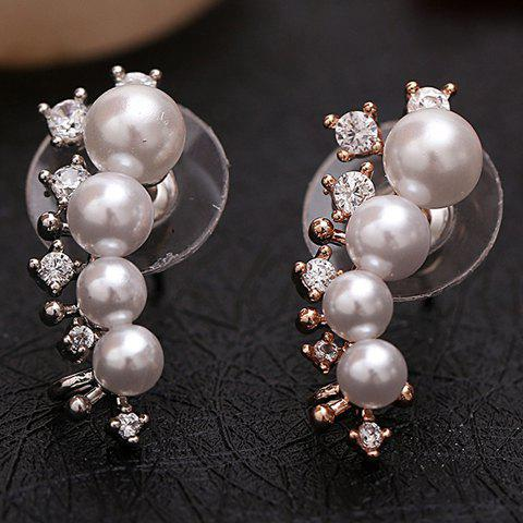 ONE PIECE Chic Faux Pearl Rhinestone Earring For Women - RANDOM COLOR