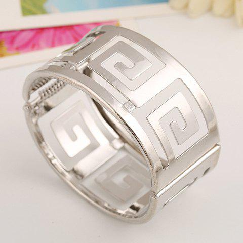 Chic Hollow Out Alloy Bracelet For Women