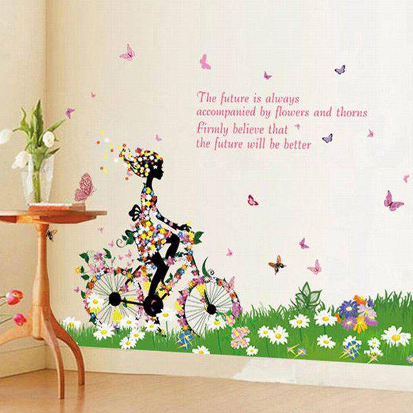 A Set of Chic DIY Home Decoration PVC Removable Bicycle Pattern Wall Stickers - COLORMIX