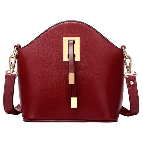 Solid Color Design Crossbody Bag For Women