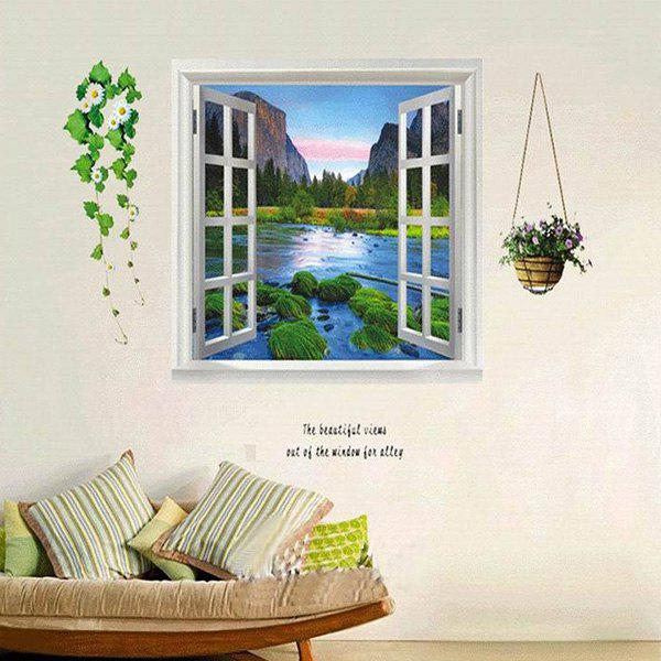 DIY Home Decoration A Set of Creative PVC Landscape Pattern Decorative Wall Stickers - COLORMIX