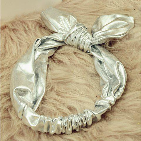 Fantastic Solid Color Rabbit Ear Shape Hairband For Women - SILVER