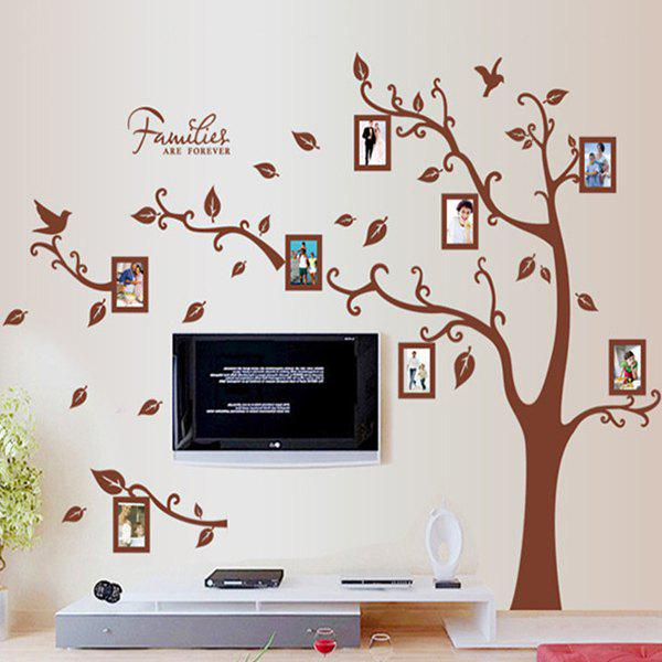 A Set of Home Decoration PVC Photo Frame and Tree Pattern Decorative Wall Stickers