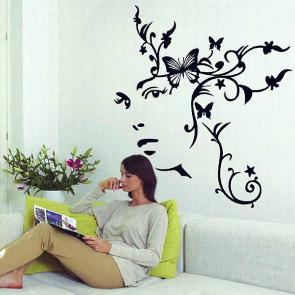 Home Decoration A Set of PVC Sweet Butterfly Pattern Decorative Wall Stickers