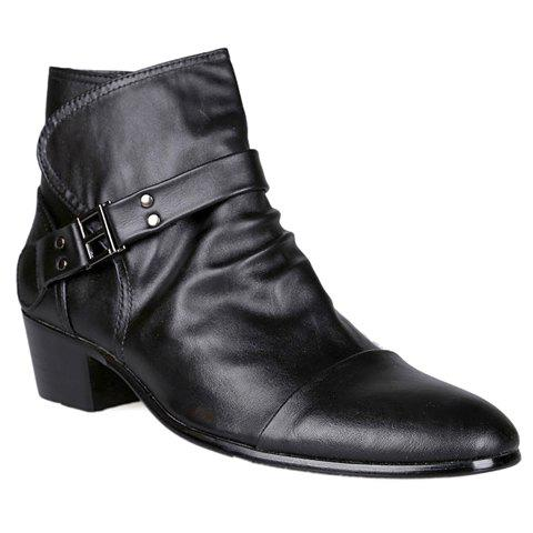 British Style Zipper And Rivets Design Boots For Men